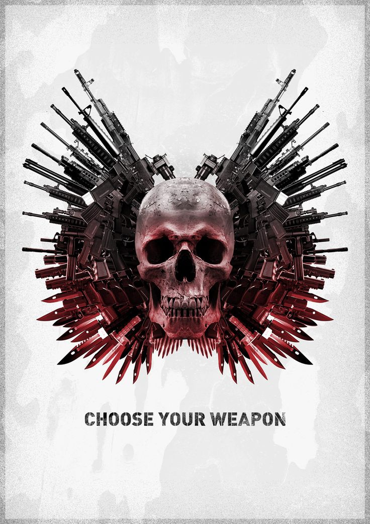 Art Posters | How To Create The Expendables Winged Skull Poster Art