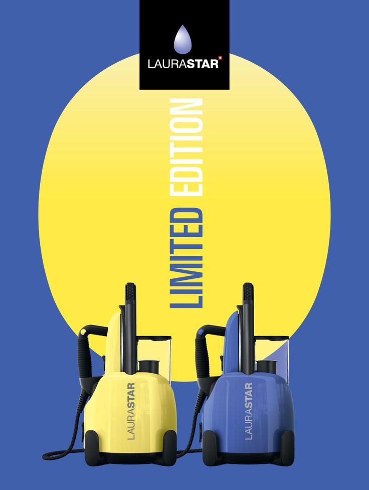 Laurastar Lift steam centrals in limited edition: Happy Purple & Citrus Chic #ironing #design #swisstechnology