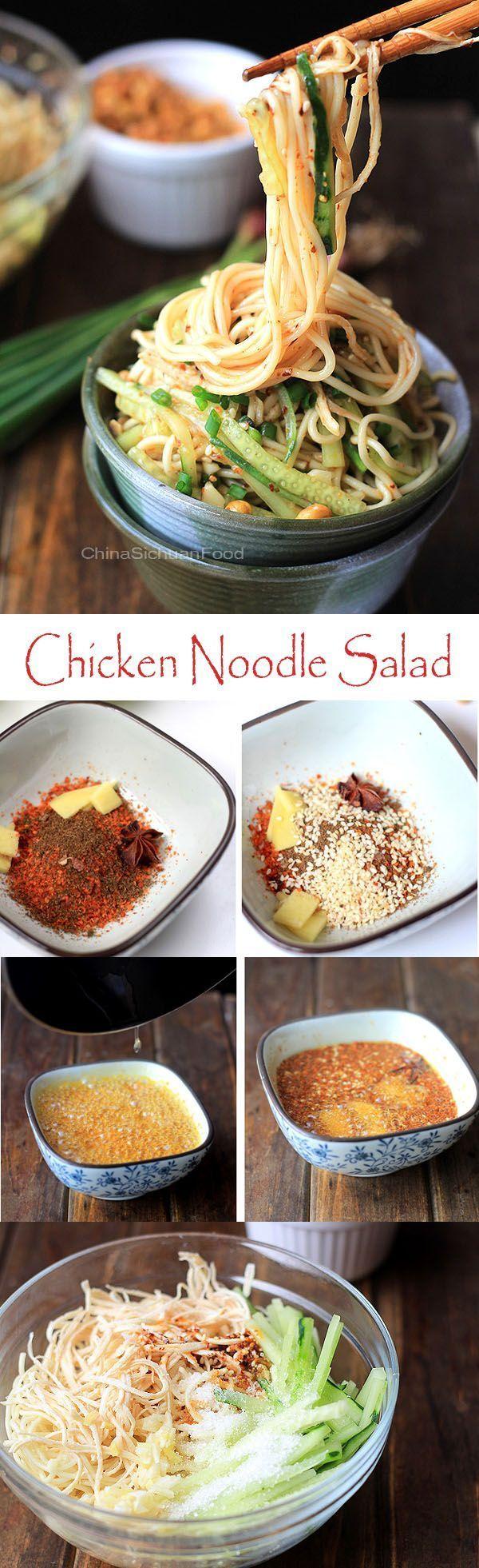 Chicken Noodle Salad- Sichuan Liang Mian | China Sichuan Food