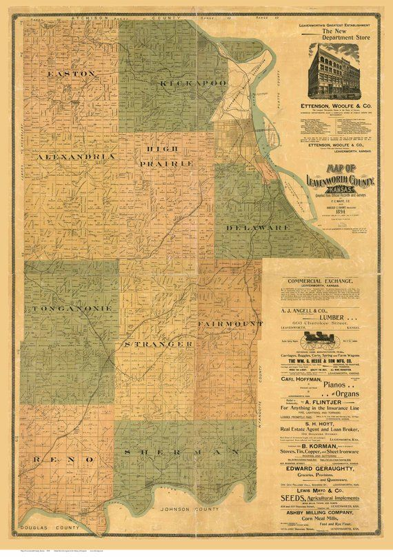 Leavenworth County Kansas 1894 Old Wall Map Reprint | Kansas County on albuquerque world map, olympia world map, st. louis world map, charleston world map, cleveland world map, biloxi world map, tucson world map, fort lauderdale world map, san fran world map, tacoma world map, iowa world map, peoria world map, lafayette world map, tulsa world map, wilmington world map, santa ana world map, gila river world map, topeka world map, des moines world map, pittsburgh world map,