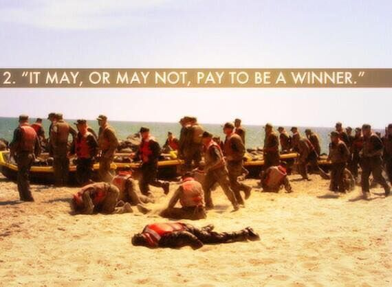 It may or may not pay to be a winner: for more Navy SEAL workouts go to:  http://sealgrinderpt.com/navy-seal-workout/navy-seal-workout.html/