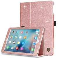 Wish | BENTOBEN Sparkly Glitter PU Leather Folio Kickstand Magnetic Smart Cover Auto Wake/Sleep Stand Protective Case for iPad Air / iPad Air 2