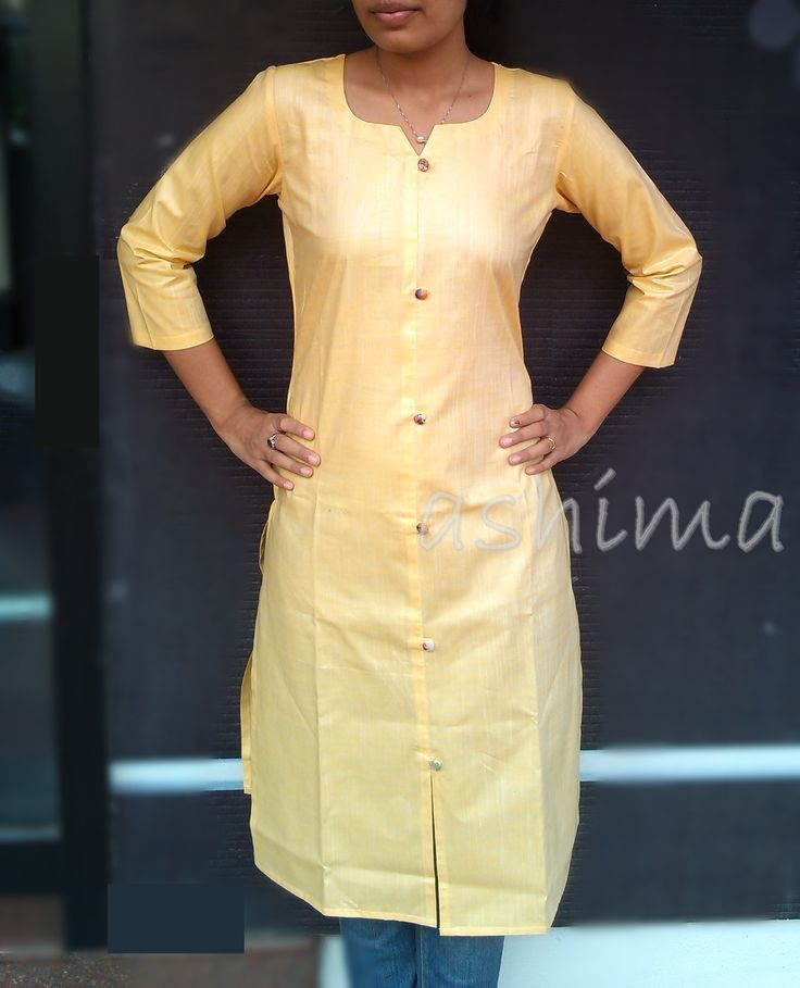 Silk Cotton Kurta-Code:1811150 Price INR:790/- All sizes available. Free shipping to all courier destinations in India. Online payment through PayUMoney / PayPal