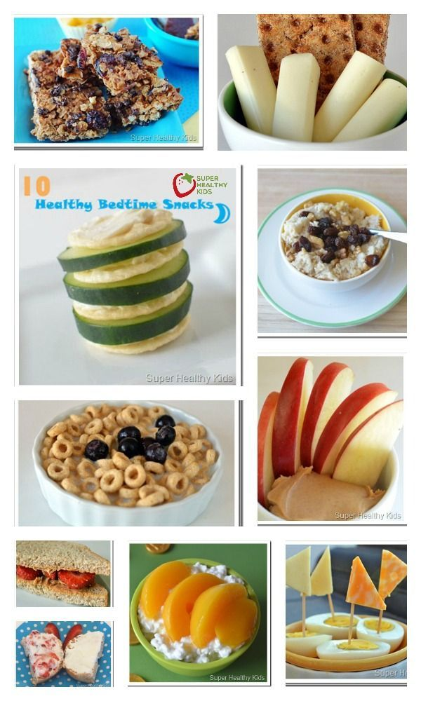 Bedtime Snacks: 10 Quick and Healthy Ideas - It sure has been a long day, and the kids still don't want to go to sleep! Agh!  Here's a quick bedtime snack that might tide them over till morning :) http://www.superhealthykids.com/10-quick-and-healthy-bedtime-snacks/