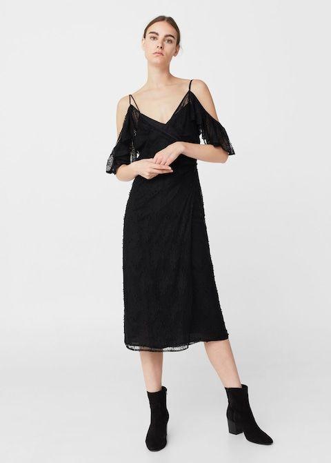 Koronkowa sukienka bez ramion