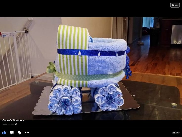Diaper cake baby carriage!