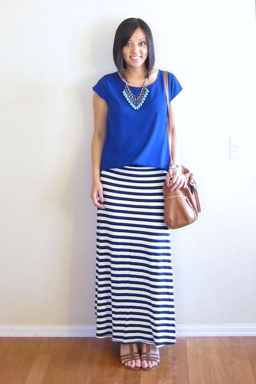 Best 25+ Stripped maxi skirts ideas on Pinterest | Maxi denim skirts Black maxi outfits and ...