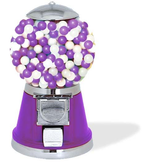 Gum may be a fun treat for kids but make sure your child is old enough to know gum is for chewing and not swallowing.: Purple Gumball, Posts, Purple Passion, Gumball Machine, Color Purple, Purple Things, Bubblegum Machine