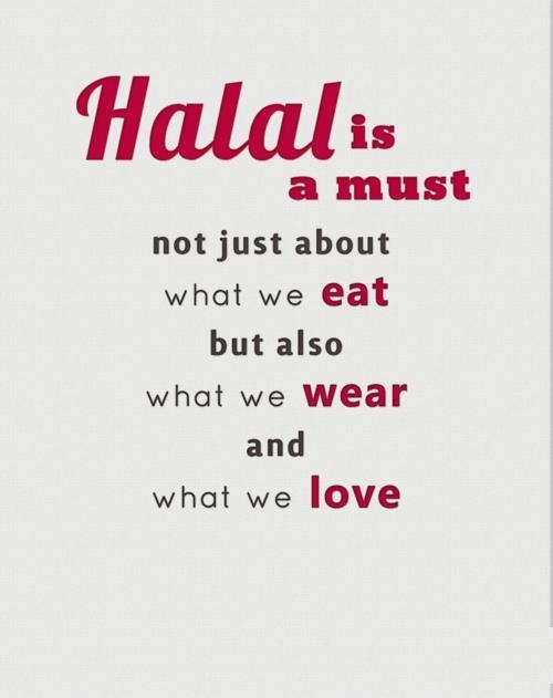 Halal is a must