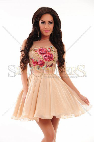 Sherri Hill 21198 Peach Dress
