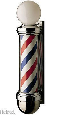 WILLIAM MARVY CO. #824 TRADITIONAL 2-LIGHT REVOLVING BARBER POLE