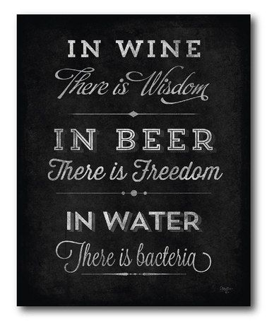 Another great find on #zulily! 'In Wine There Is Wisdom' Wrapped Canvas #zulilyfinds