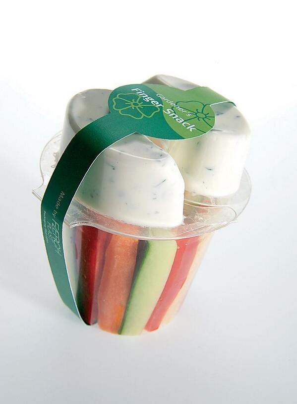 Cool Packaging Vegetables And Dip Gardener S Finger