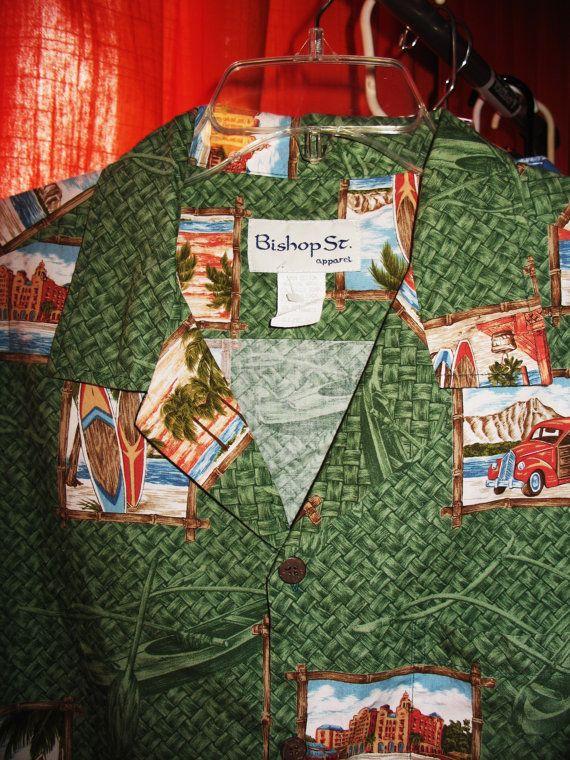 Amazing Vintage Hawaiian Shirt BISHOP ST Apparel by oldmagicchest, $31.99