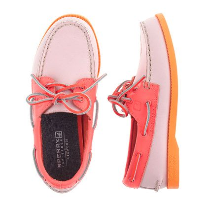 The iconic deck shoe from Sperry Top-Sider—a true American original and a favorite since 1935—is back and better than ever. Sized down from a style we have in our women's collection, these are the shoes she can wear with (almost) everything. <ul><li>Leather upper.</li><li>Rubber sole.</li><li>Import.</li></ul>
