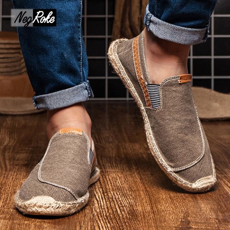 ==> [Free Shipping] Buy Best New Casual fashion men shoes loafers espadrilles men trainers jute linen shoes for men scarpe estive uomo superstar buty Online with LOWEST Price | 32807796987