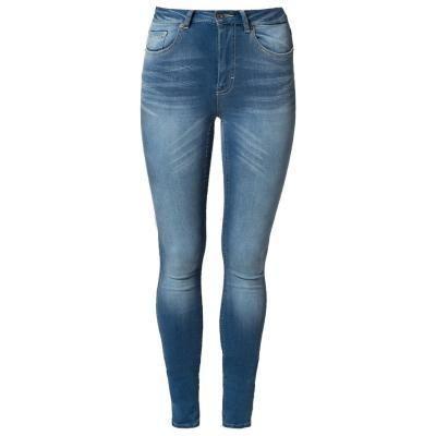 €92, Blaue Enge Jeans von Vero Moda. Online-Shop: Zalando. Klicken Sie hier für mehr Informationen: https://lookastic.com/women/shop_items/297881/redirect