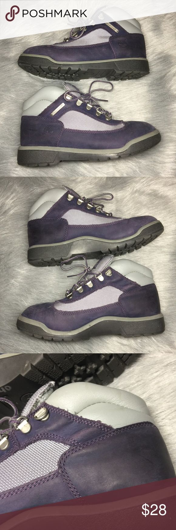 Girls Purple Timberland Boots Size 5.5 🌲Girl's Purple Timberland boots. size US 5.5. like new condition with minor scuffing. Condition shown in photos. Message me for more info. Timberland Shoes Boots