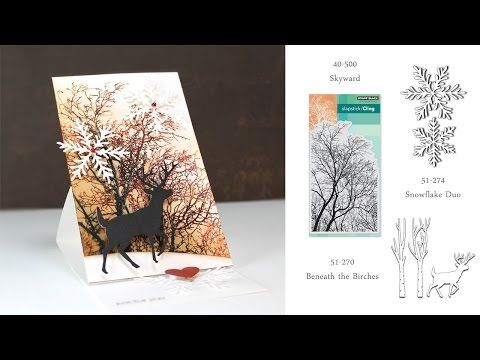 VIDEO: Easel Card | The Penny Black Blog. Materials list last frame.