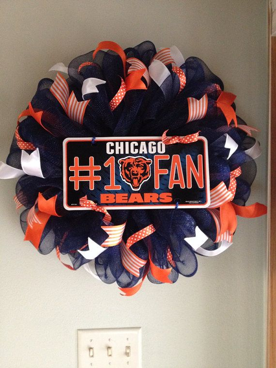 Chicago Bears Wreath by ThisnThatWreaths on Etsy
