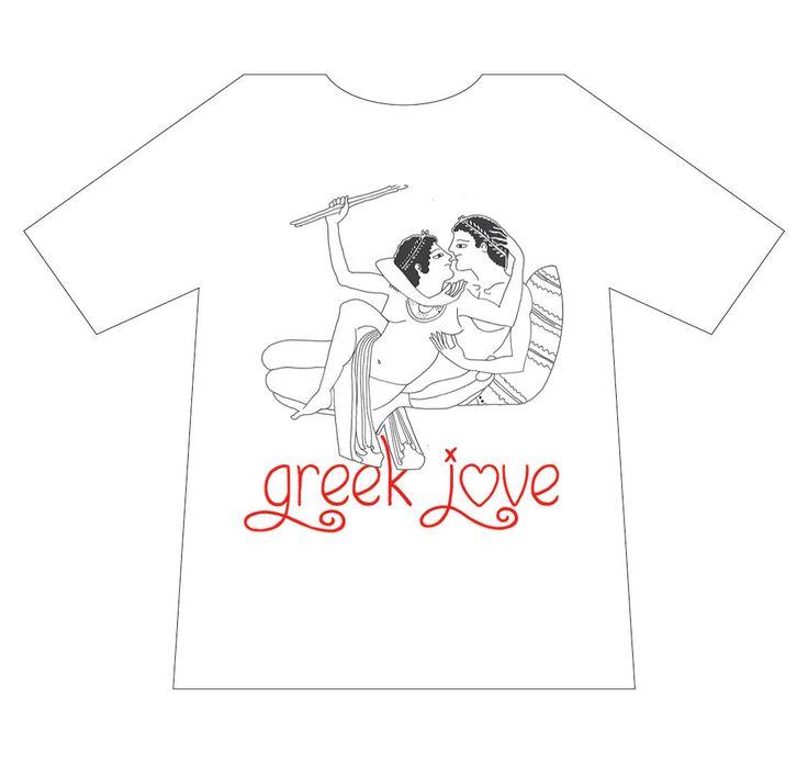 Greek culture T-shirt, Greek Love, Eros, T-logos, Ancient Greece, T-shirts, mediterraneo editions, www.mediterraneo.gr