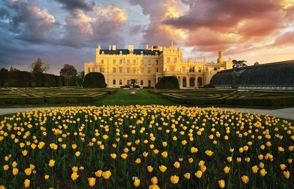 Lednice Chateau, Southern Czech Republic.  Garden of europe