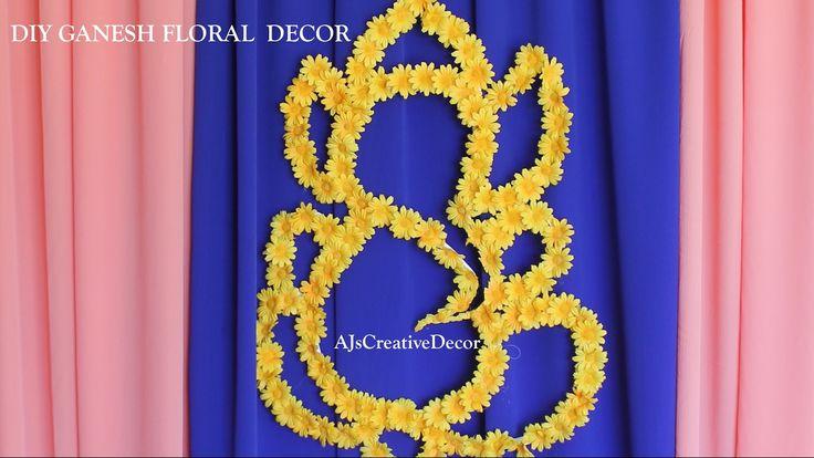 DIY Ganesh Floral Backdrop