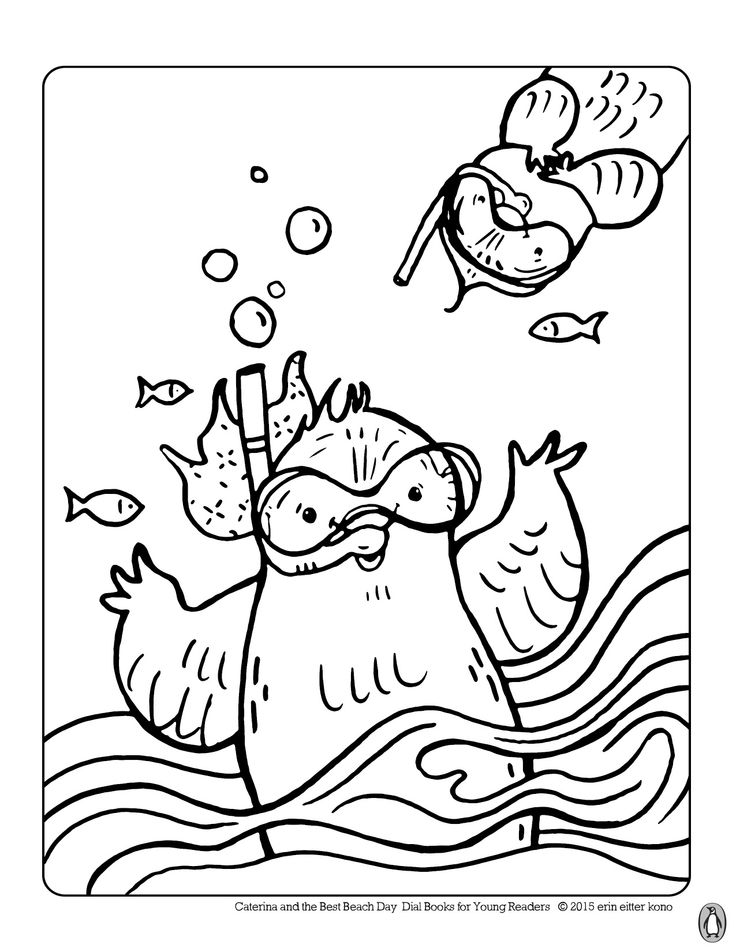 caterina is ready for some fun in the fun print out these caterina and the beach activitiescoloring sheetscoloring - Coloring Pages Fun