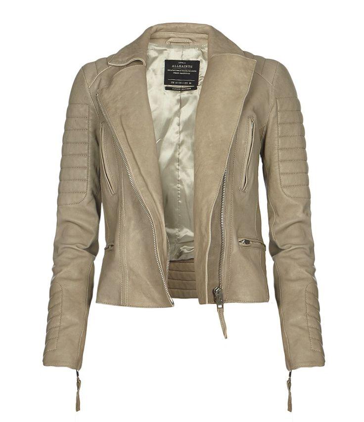 Sage Leather Biker Jacket  $680.00