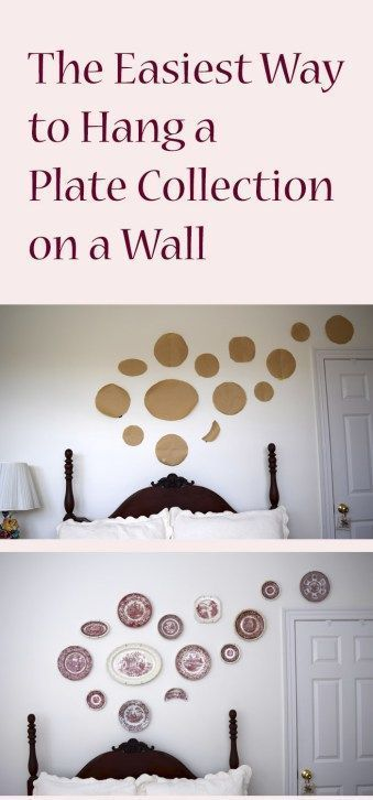 A plate wall makes a great statement. Its's an easy DIY home decor project. Step...