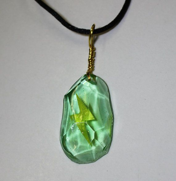 Pokemon Thunderstone Necklace  Facet Finish by Resinators on Etsy, $25.00