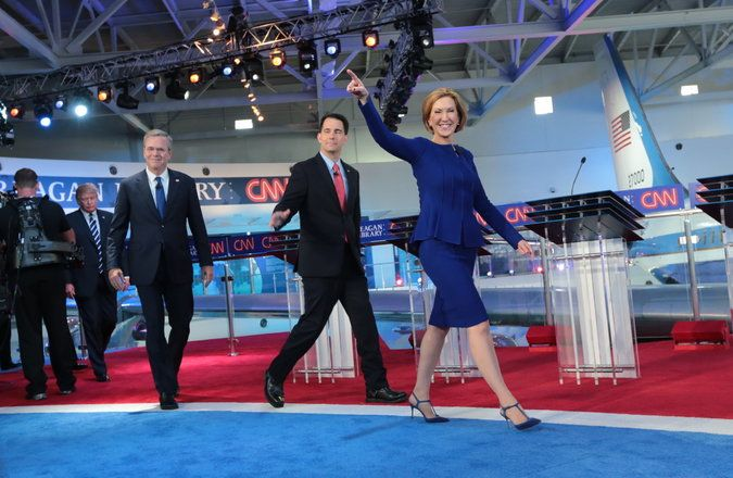 Carly Fiorina Gains Traction in Debate, Helping G.O.P. Reach Out to Women - The New York Times