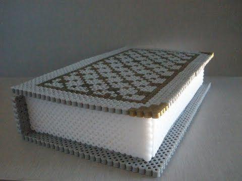 Caja libro Hama beads - YouTube
