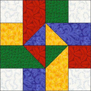 AZPatch - December 2003 Block - Ribbon Twist (template and idea for full finished quilt on page)