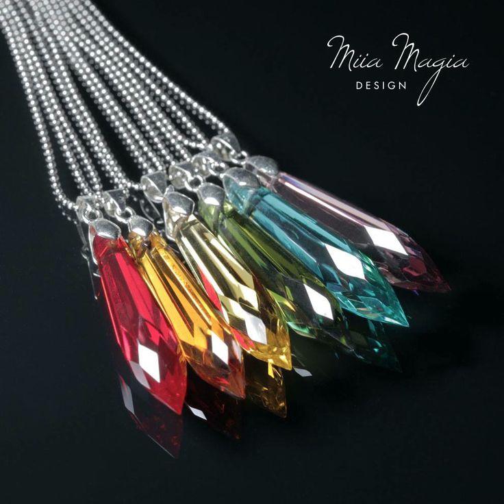 Miia Magia Design for Helsinki Pride www.miiamagia.com #jewelry #necklace #helsinkipride #pride #crystal