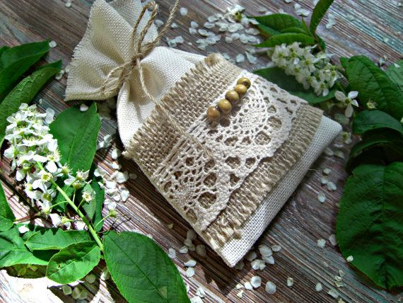 Set of 15 Natural Burlap Small Bags For by BoutiqueSweetFloret