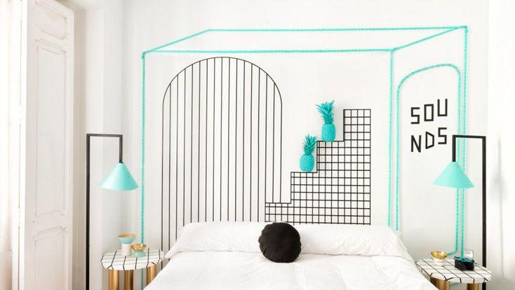 Valencia Lounge Hostel de Masquespacio #interiorismo #hotel #dormitorio #lámpara