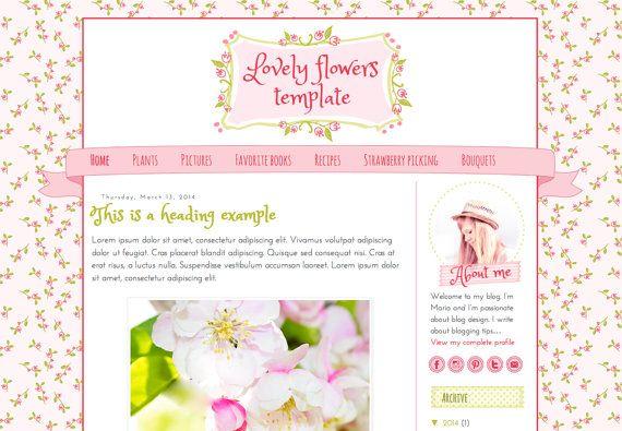 Cute blog design. Responsive Blogger Template.