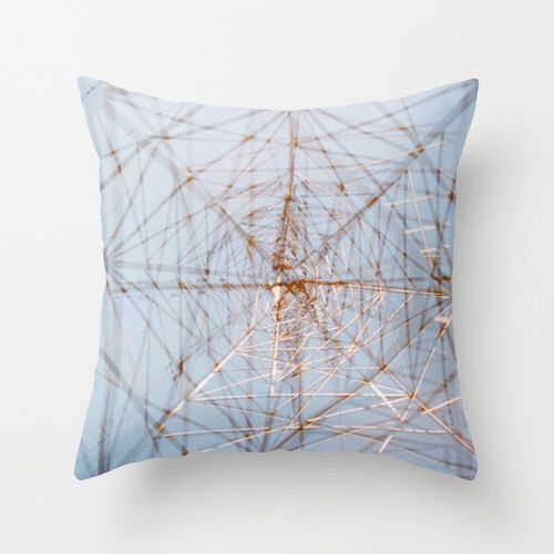 photo throw pillow cover. sky blue accent pillow. geometric industrial decor. decorative pillow cover pale blue silver abstract photography by FieldsOfAphelion on Etsy https://www.etsy.com/listing/211402998/photo-throw-pillow-cover-sky-blue-accent