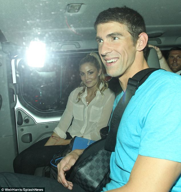 This was the first time that Phelps was seen in public with his girlfriend of five months, Megan Rossee (left), though she has been Tweeting pictures with him for a while. - http://www.PaulFDavis.com/success-speaker (info@PaulFDavis.com)