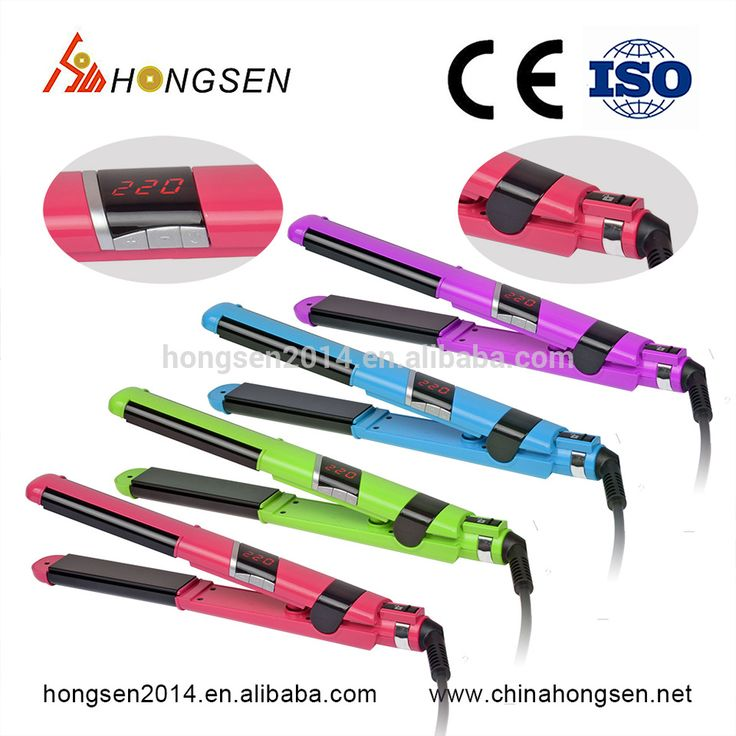 Hair Curling Iron Ceramic Styling Professional Hair Straightener Hair Curler Dual 26MM Big Size For Women
