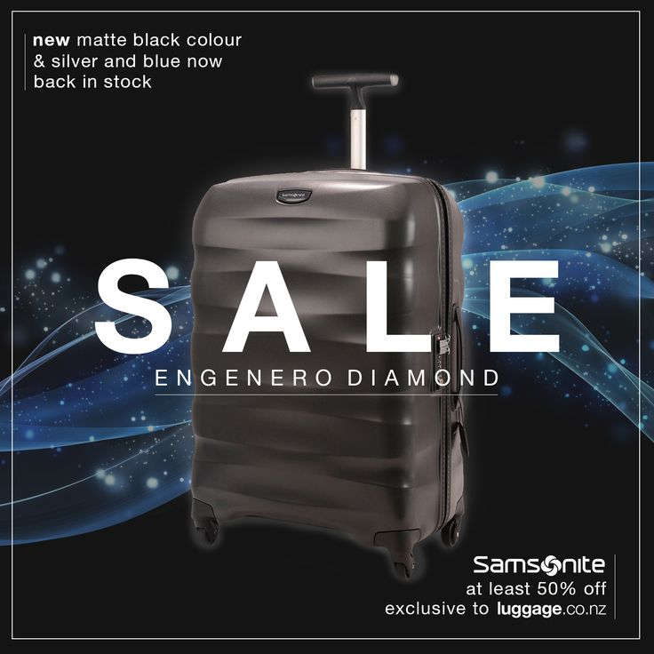 The Samsonite Engenero Diamond in matte black is available exclusively to luggage.co.nz! Shop the range with at least 50% off RRP over on luggage.co.nz!