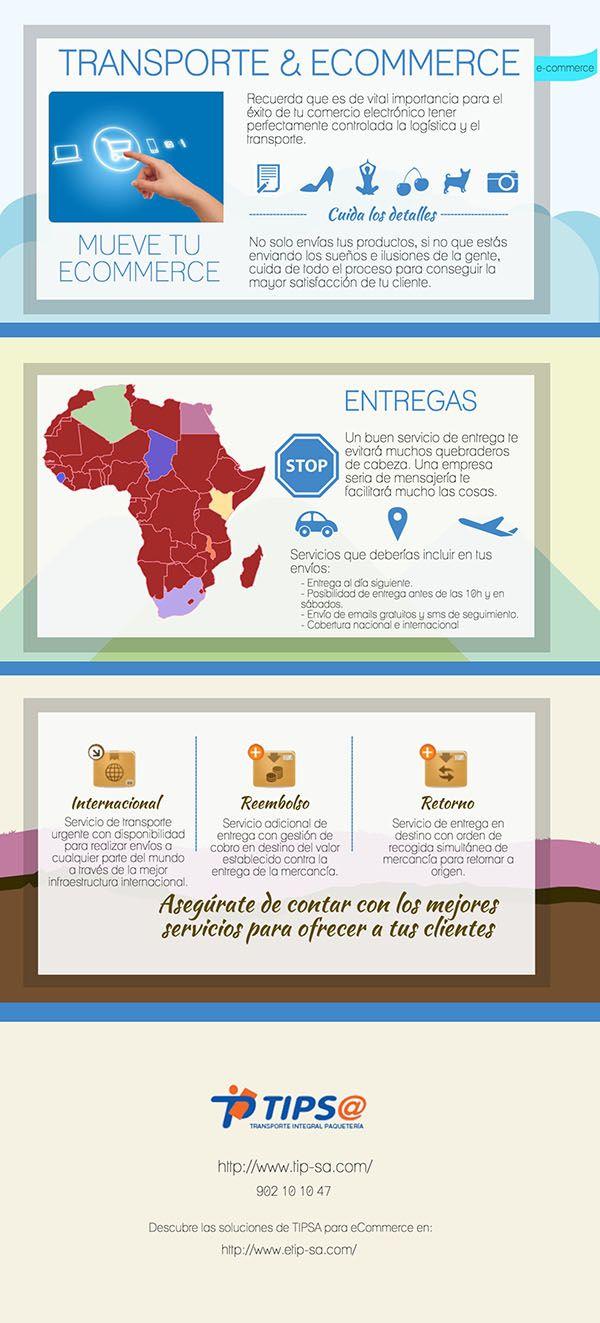 Envío de paquetes. Transporte y #ecommerce
