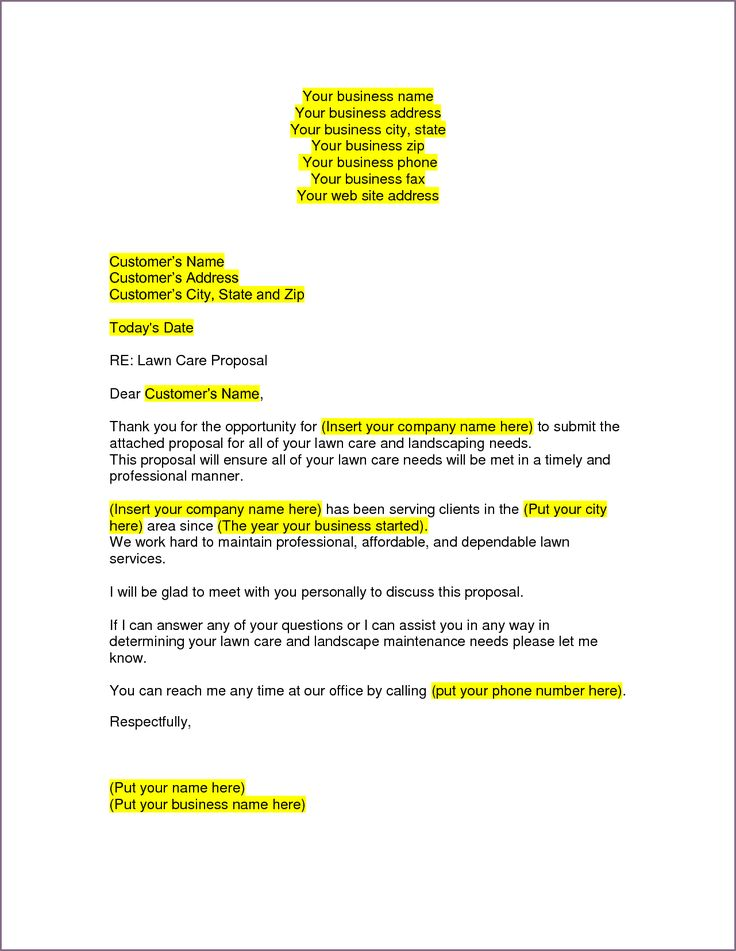 Sample Business Proposal Letter Resume Cover Letters Intent Sell