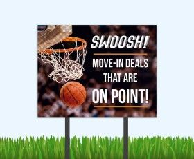 Regular season NBA, playoffs, finals, March Madness, Final Four, Student Living... all reasons for this campaign. #multifamily #studentliving #studenthousing #marketingideas #sportsthemed