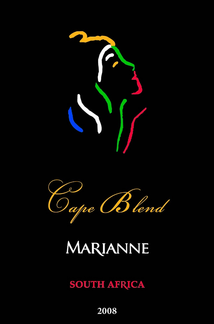 Wine.  Wine Label.  Marianne Estate Cape Blend 2008.  Our entry level blend.  Every day drinkability!