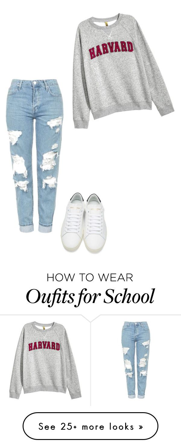 """school"" by explorer-14743468787 on Polyvore featuring Topshop and Yves Saint Laurent"