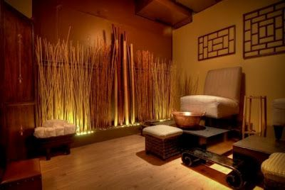 wall colors, bamboo, lighting ideas for massage room