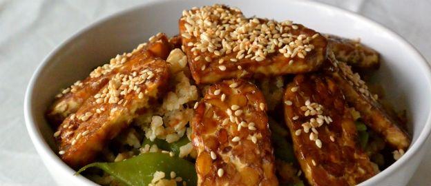 Supermaaltje: gebakken rijst met tempeh en snijbonen