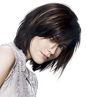 Spiky Bob: Try this modern take on the bob if your hair is on the straight side. The volume on top flatters a round face.